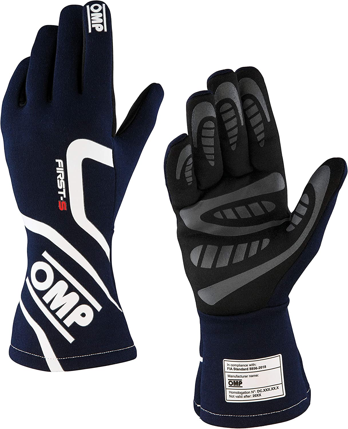 OMP IB//761A First-S Race Gloves Entry Level Fireproof Motorsport FIA 8856-2018