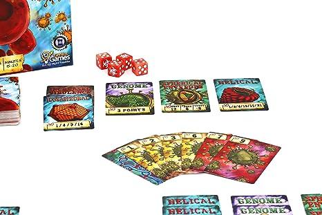 Genius Games GTGOT1005 Virulence: un Juego de Cartas infeccioso, Multicolor: Amazon.es: Juguetes y juegos