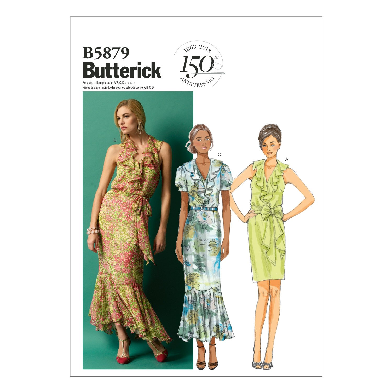 【Butterick】ワンピース型紙 サイズ:US6-8-10-12-14   B00C4KDEPW