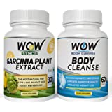WOW Garcinia Cambogia with WOW Body Cleanse Booster (Pack of 2)