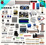 Adeept New Ultimate Starter Learning Kit for Raspberry Pi 3 2 Model B/B+ Python ADXL345 GPIO Cable DC Motor, Beginner/Starter Kit for Raspberry Pi with Guidebook(PDF) and C && Python Code