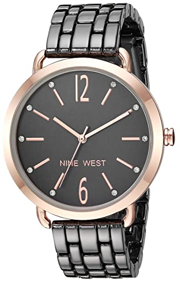 Buy Nine West Women S Nw 2151gyrt Crystal Accented Rose Gold Tone