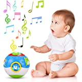 Arshiner Kids Educational Learning Toys Magic Cube Cartoon Music Sound Ball with LED Light
