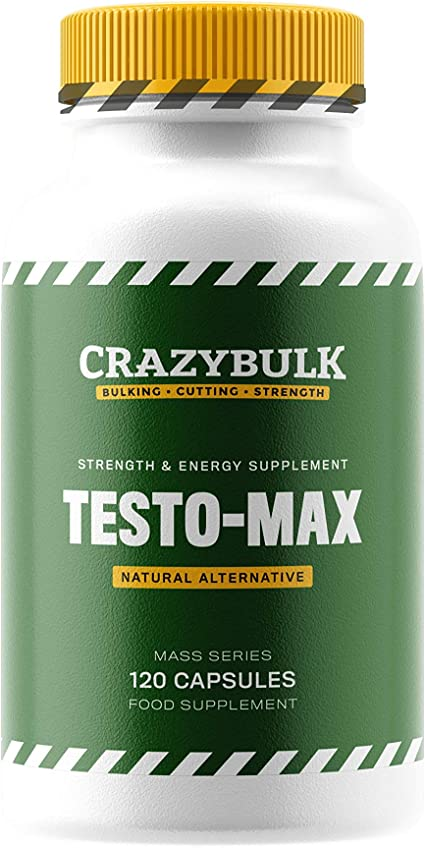 Amazon.com: CrazyBulk Testo-Max Natural Testosterone Booster with Powerful  Ingredients for Muscle Gains, Stamina, Strength, Energy, Bulking and  Cutting (120 Capsules): Health & Personal Care