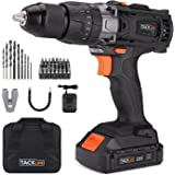 "Tacklife PCD04B 20V MAX 1/2"" Cordless Drill Driver Set with Hammer Function, 2-Speed Max Torque 310 In-lbs, 43pcs Accessories Included, 2.0Ah Lithium-Ion Battery"