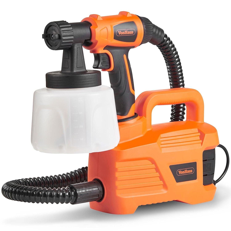 Vonhaus 800W Paint Sprayer  Spray Gun For Fencing, Ceilings,