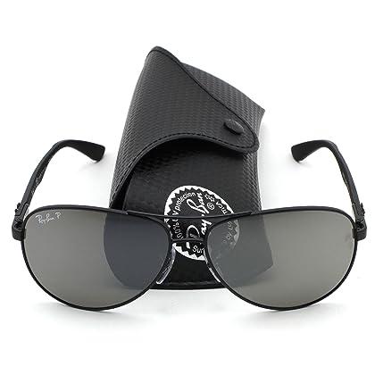 Ray-Ban RB8313 Polarized Carbon Fibre Aviator Unisex Sunglasses (Gunmetal  Frame Polarized Mirror e77320d62c0a