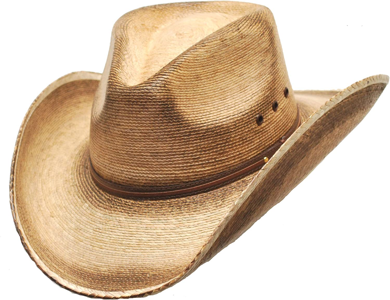 WESTERN EXPRESS Pinch Front Palm Hat