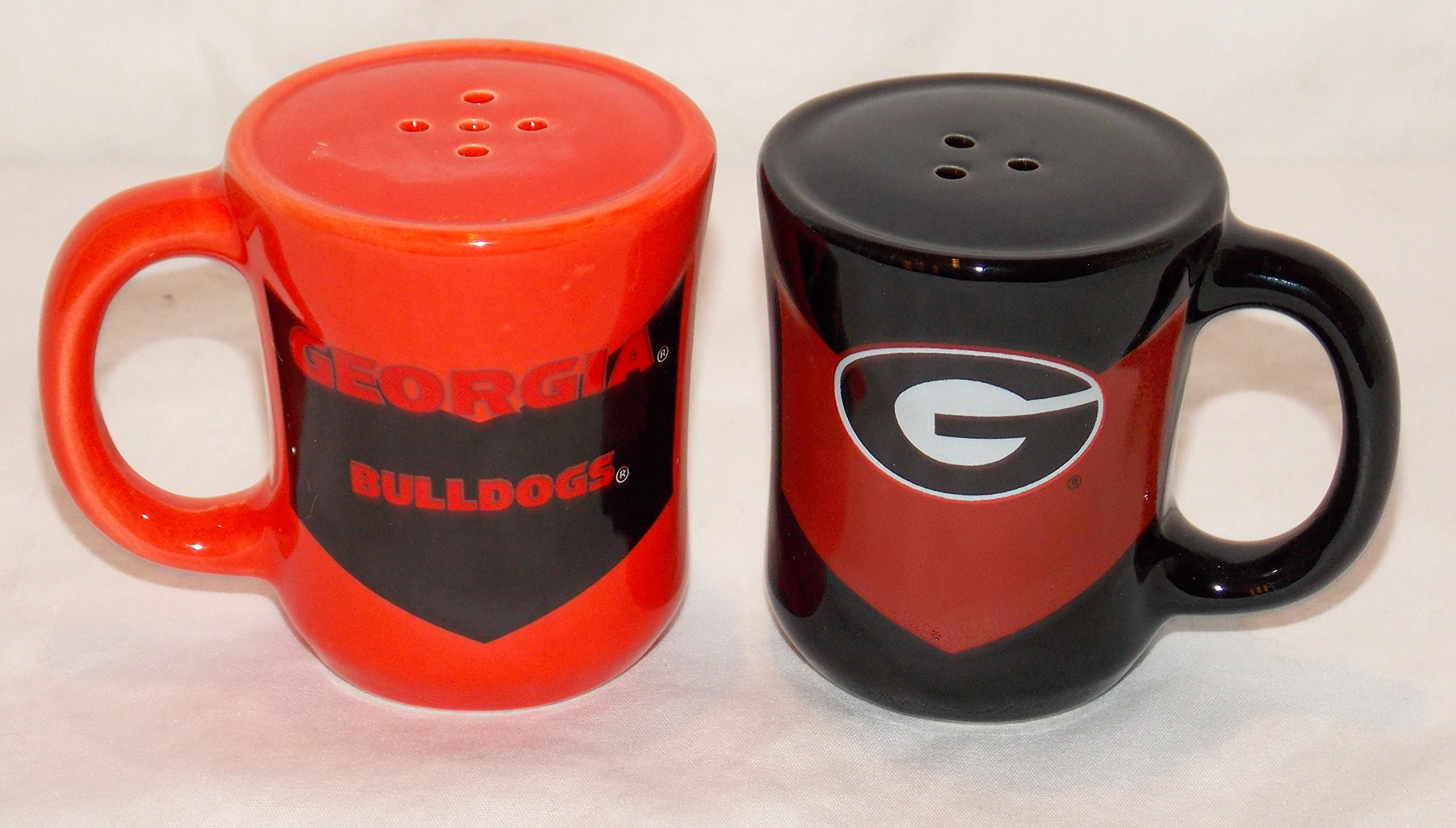 Collegiate Georgia Bulldogs Chevron Salt & Pepper Decorative Shakers Officially Licensed