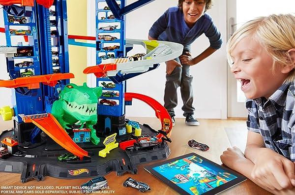Hot Wheels City Robo T-Rex Ultimate Garage vehicle playset for kids