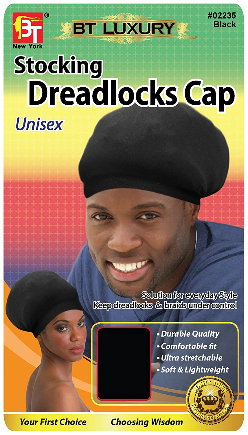 durable super stretchy soft stays on your head lightweight Dark Brown stretchable Comfortable fit Stocking Dreadlocks Cap unisex