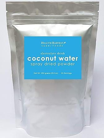Polvo de agua de coco: bebida natural de electrolito, secado ...