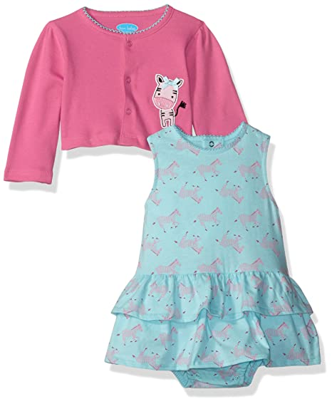 951cf77d97 Amazon.com  Bon Bebe Baby Girls  2 Piece Dress and Cardigan Set ...