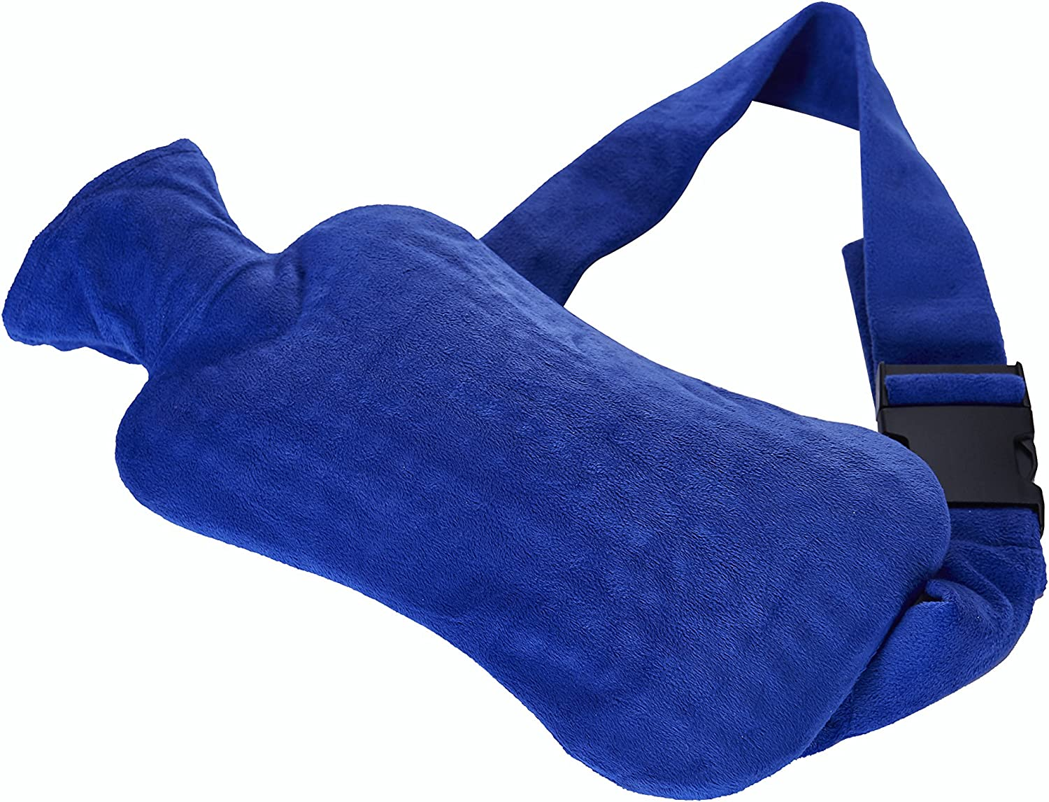 Hot Water Bottle W Belt Hot Water Bottle For Strapping W Respect Specific Control Of Back Pain Kidneys Stomach Or Menstrual Pain Blue Amazon Co Uk Health Personal Care
