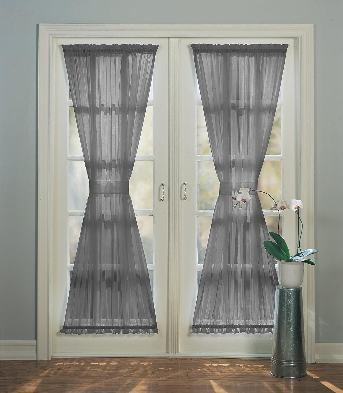 No 918 Emily Sheer Voile Patio Door Curtain Panel 59 x 72
