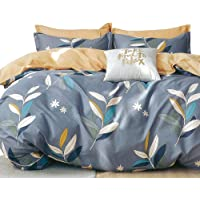 Essina Double Bed Quilt Cover Duvet Cover Doona Cover Set 3pc Pictorial Collection, 100% Cotton 620 Thread Count, Pillow…