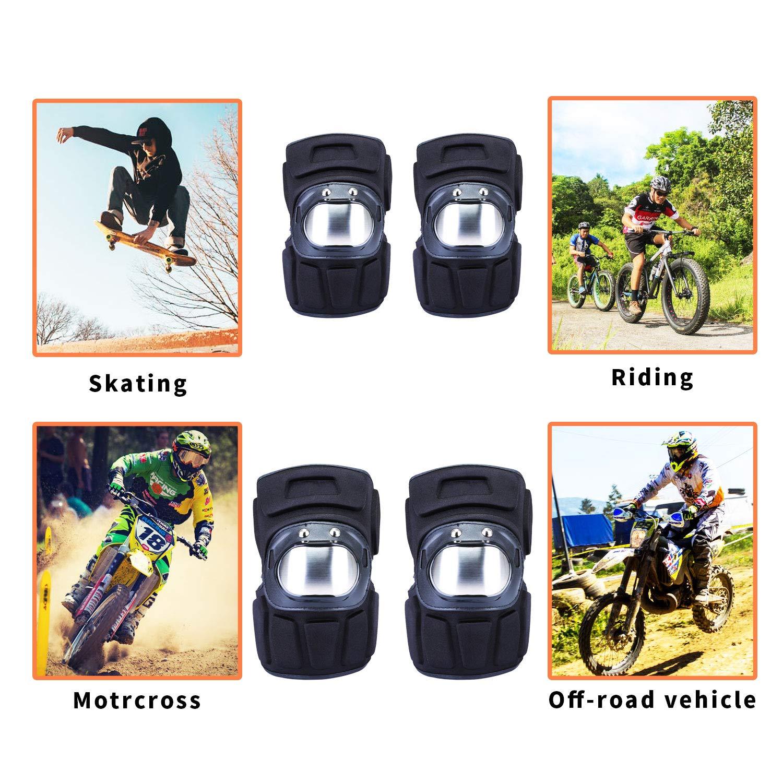 Rodilleras de Protecci/ón Cojines Pad Almohadillas de Espuma EVA Impermeables Protectores de Rodilla con Cierre de Velcro Ajustable Equipo de Protecci/ón para Motocicleta Bicicleta Skate Patinaje Ni/ño