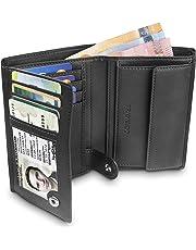 TRAVANDO ® Portefeuille Homme Dublin - 10 Rangements Cartes - Blocage RFID  - Porte-Monnaie 4029d33cc6a