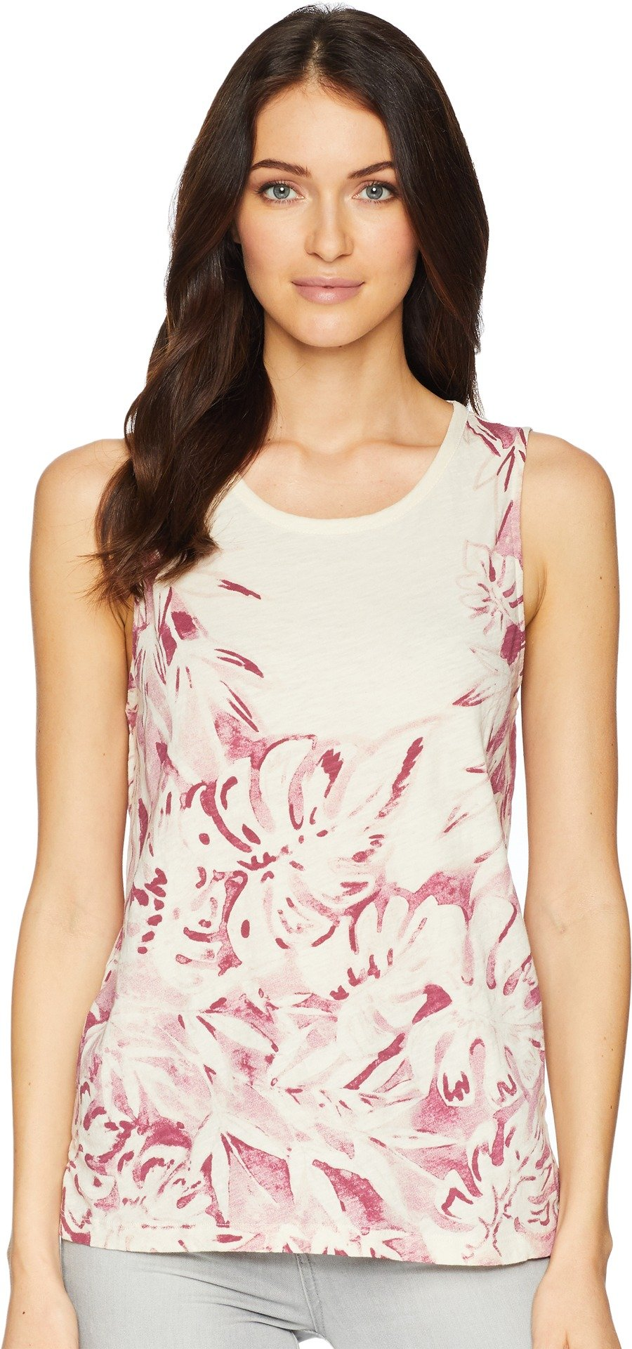 Lucky Brand Women's Printed Floral Tank Top, Berry Multi, L