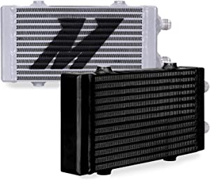 Universal Dual Pass Bar & Plate Oil Cooler Heat Exchanger Small Black Mishimoto