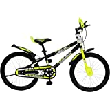 MAD MAXX BIKES Steel Kid's Road BMX Cycle, 20 inches (Matt Black) for 7 to 10 Years Child