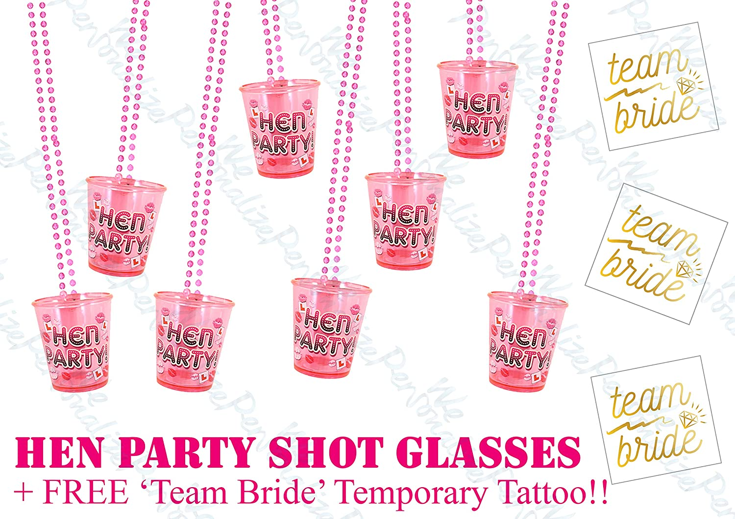 1 Bride to Be Shot Glass /& 15 Hen Party shot Glasses Hen Night  do Accessories