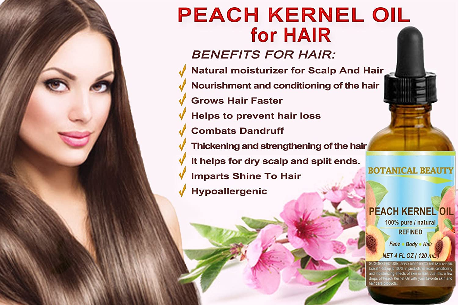The use of an extract of peach pits in cosmetology