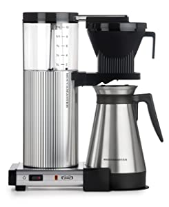 Technivorm Moccamaster 89912 Coffee Brewer, 40 oz, Polished Silver