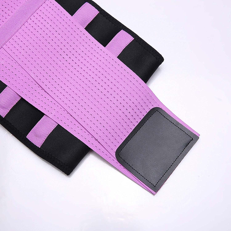 KOOCHY Women's Waist Trainer Belt - Waist Cincher Trimmer - Slimming Body Shaper Belt - Sport Girdle Belt for Weight Loss(Purple,Large) by KOOCHY (Image #7)