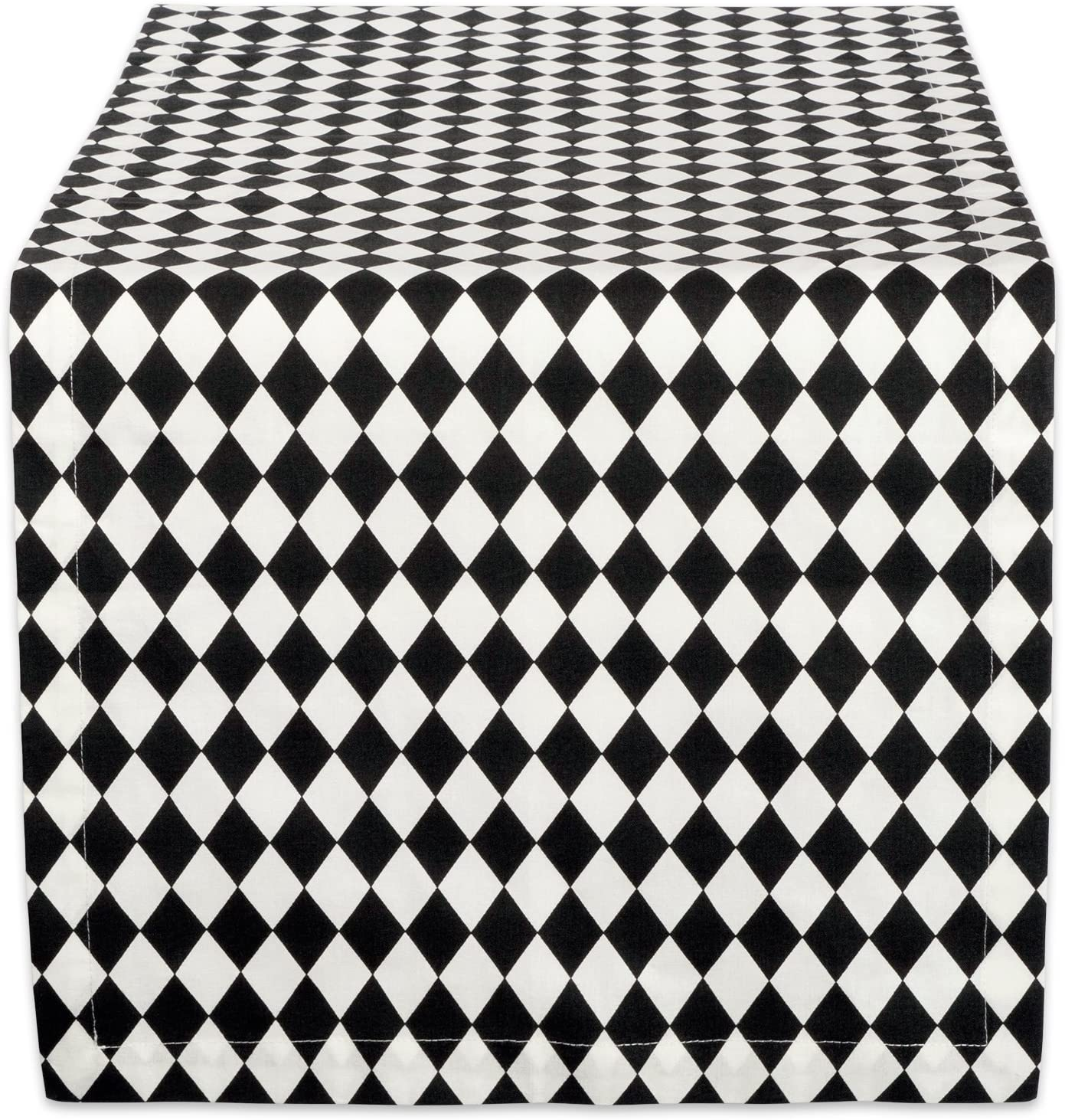 """DII Cotton Table Runner for for Dinner Parties, Weddings & Everyday Use, 14x108"""", Harlequin"""