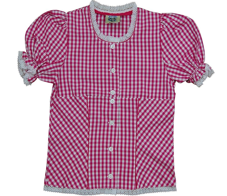 Kinder , Mädchen Karo Trachten Bluse Melanie