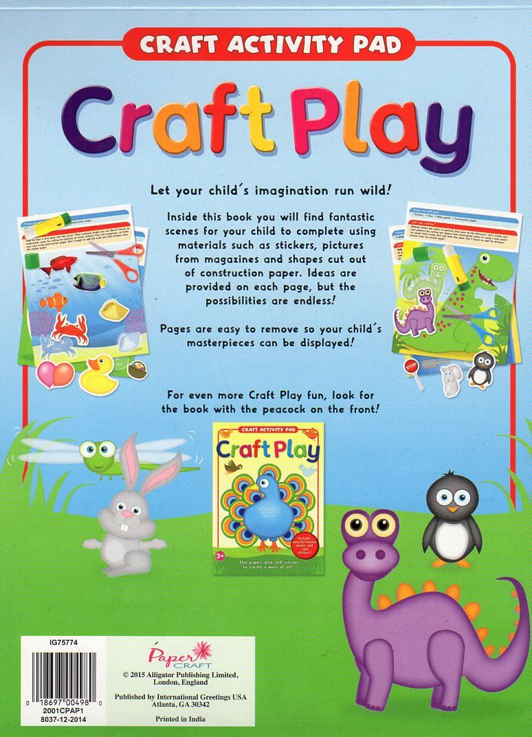 Craft Activity Pad Craft Play Includes Cool Stickers Paper Craft