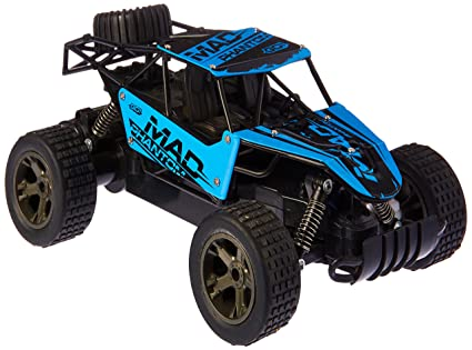 King Cheetah Remote Control RC Toy Blue Rally Buggy Car 2.4 GHz 1:18 Scale