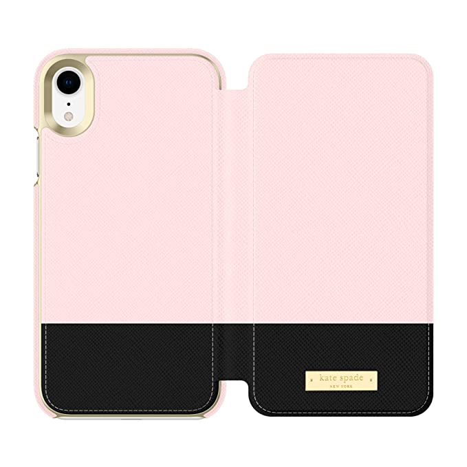 premium selection daca7 80429 Kate Spade New York Phone Case   for Apple iPhone XR   Protective Phone  Cases with Folio Design and Drop Protection - Color Block Rose ...