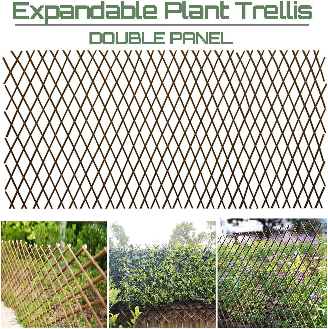 Ralph Willow TrellisFence Expandable Garden Climbing Lattices Trellis Plant for Support Climbing 36x92 Inch (2)