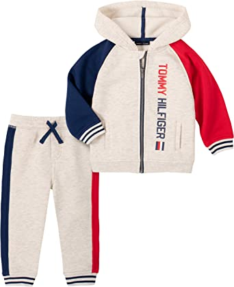 Tommy Hilfiger Boys 2 Pieces Hooded Pants Set