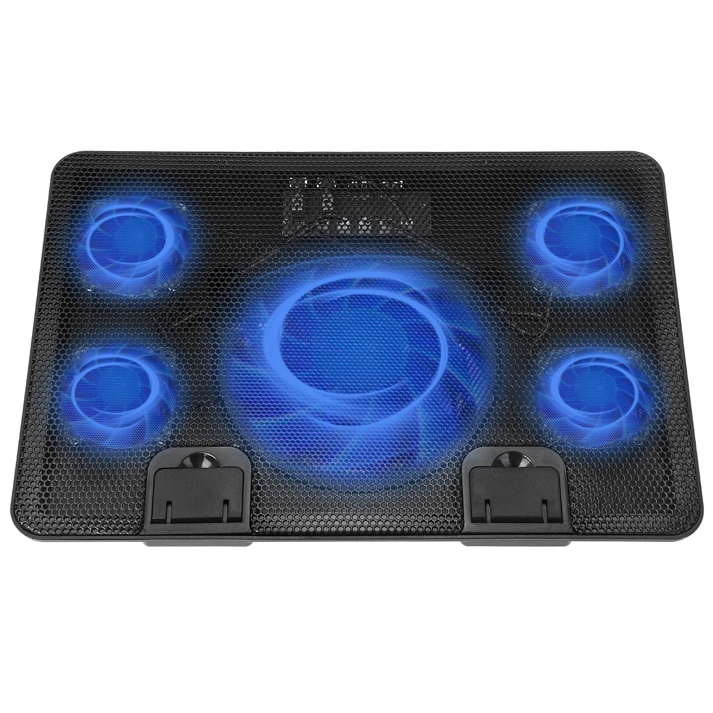 Qushhe Kanekane Notebook Cooling Pad Notebook Cooler for 12-15.6 inch Notebook 5 Fans LED Lights