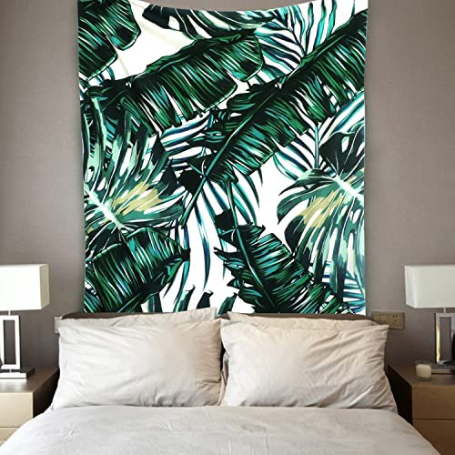 Sunm Boutique Tapestry Wall Hanging Palm Tree Leaves Tapestry Vintage Tapestry Wall Tapestry Micro Fiber Peach Home Decor Palm Tree Leaves, 70.8 x 92.5