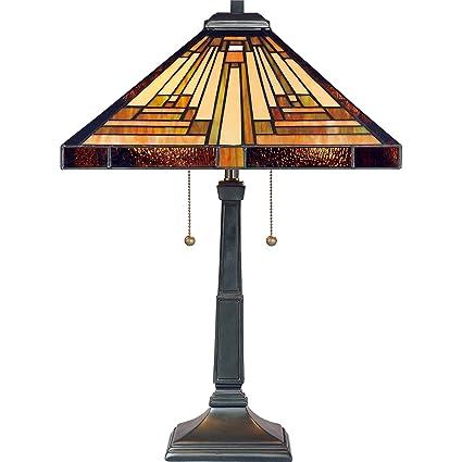 Quoizel tf885t stephen 2 light table lamp vintage bronze