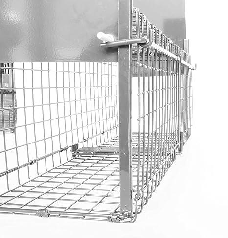 Bird-Tech TM Jaula ATRAPAR Gatos, Conejos Vivos Doble Puerta ...