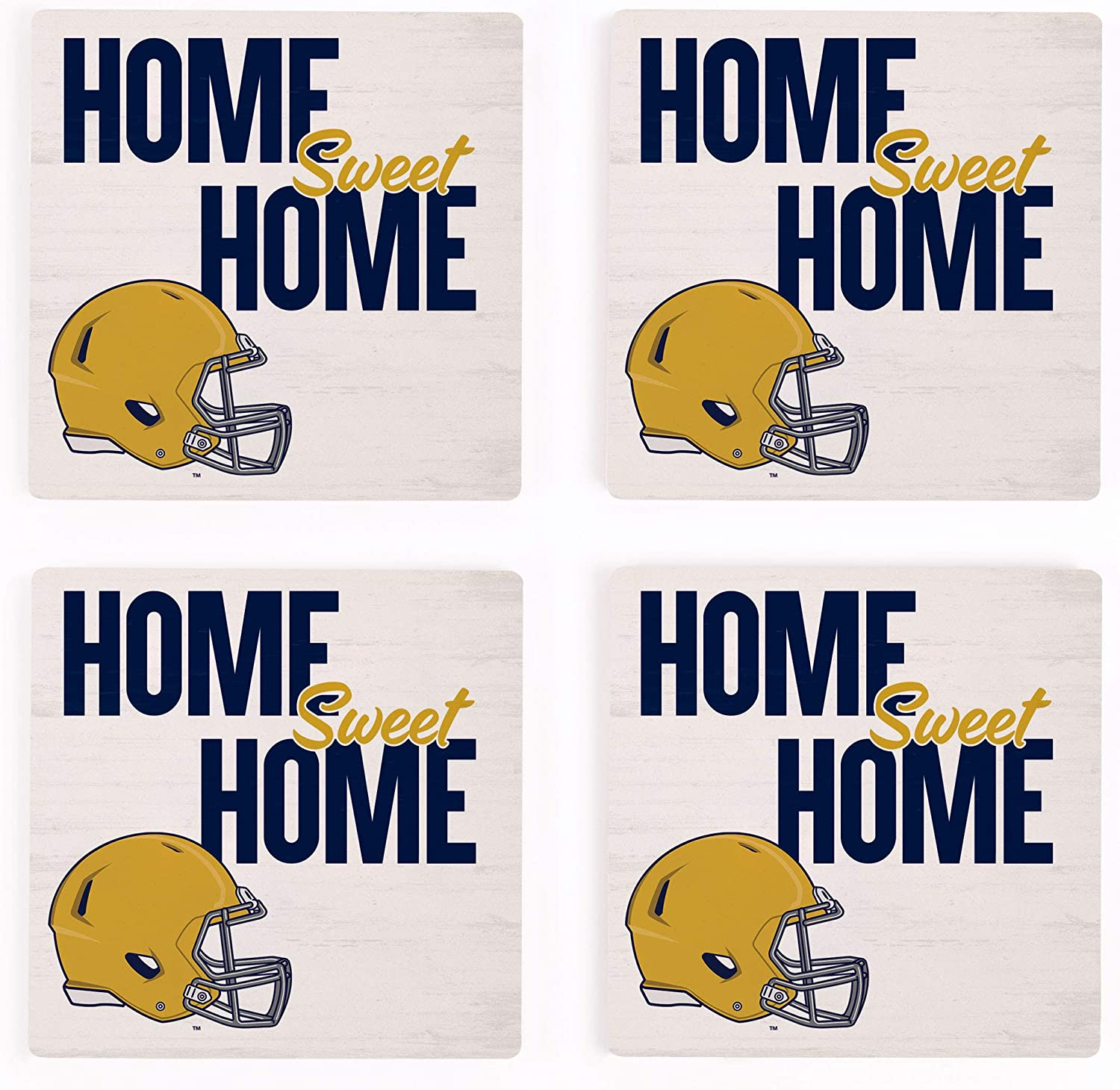 Home Sweet Home Notre Dame Fighting Irish NCAA 4 x 4 Absorbent Ceramic Coasters Pack of 4