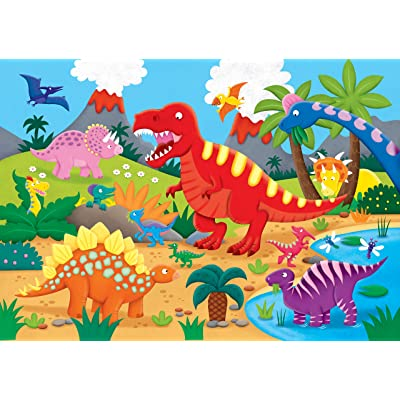 Peter Pauper Press Dinosaurs Kids' Floor Puzzle (48 Pieces) (36 inches Wide x 24 inches high): Peter Pauper Press: Toys & Games