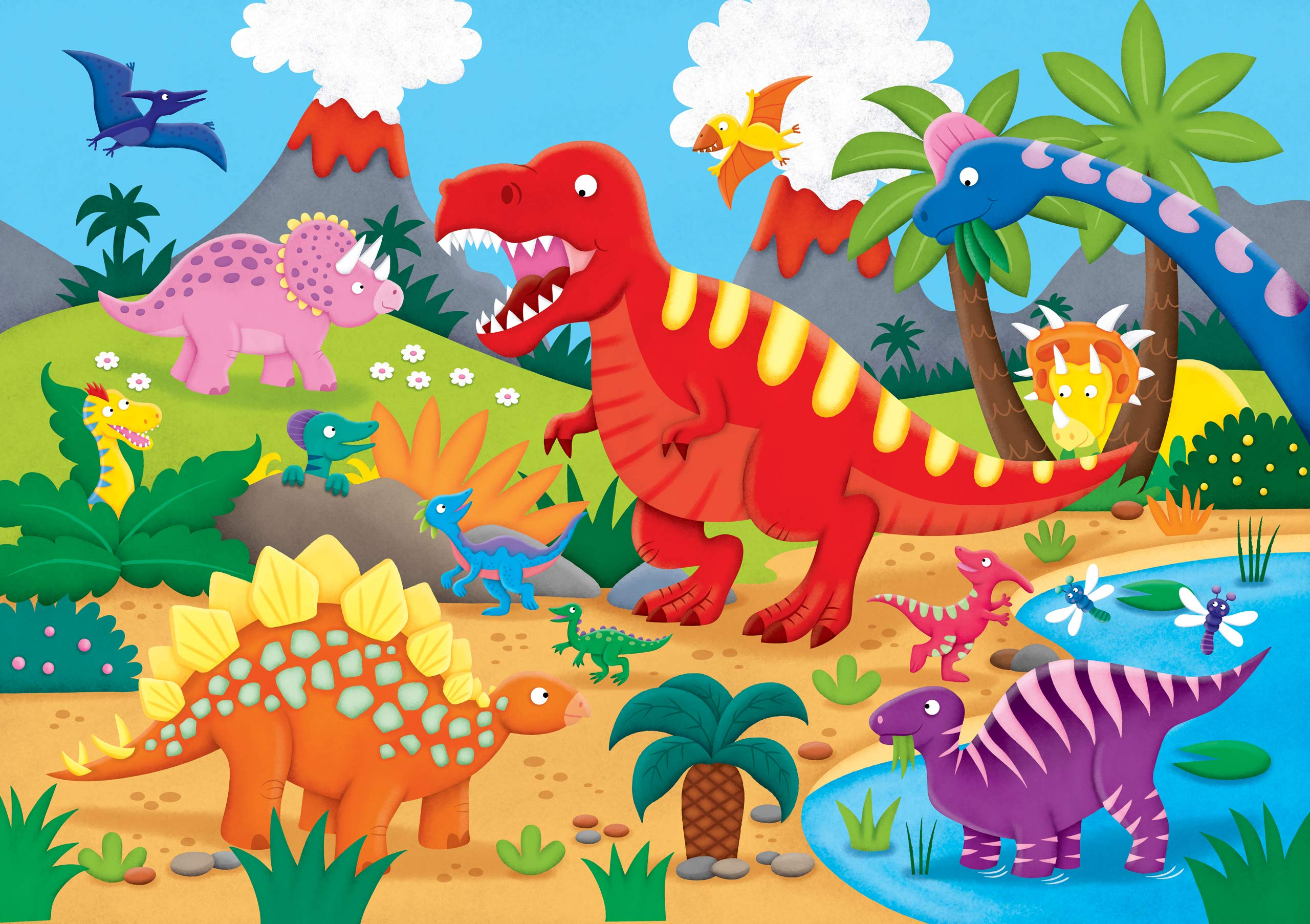 Children/'s Dinosaur World Jurassic Period Giant Floor Puzzle 96pcs ages 6 and up