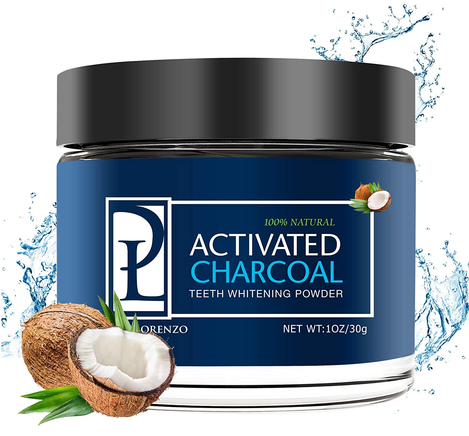 Natural Teeth Whitening Powder - Made with Activated Coconut Charcoal - for Sensitive Teeth and Healthy Whitener TuKnon