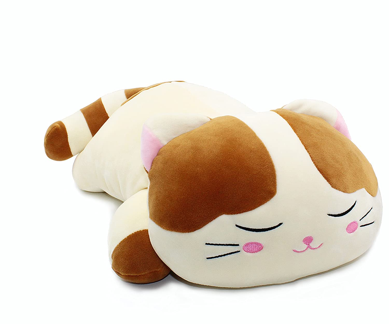 1bdc369042310 Amazon.com: Vintoys Very Soft Cat Big Hugging Pillow Plush Kitten Kitty  Stuffed Animals Brown 23.5