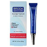 Broda Skincare 2% BHA Salicylic Acid IntelliGel Acne Spot Treatment, 1.4 Ounces