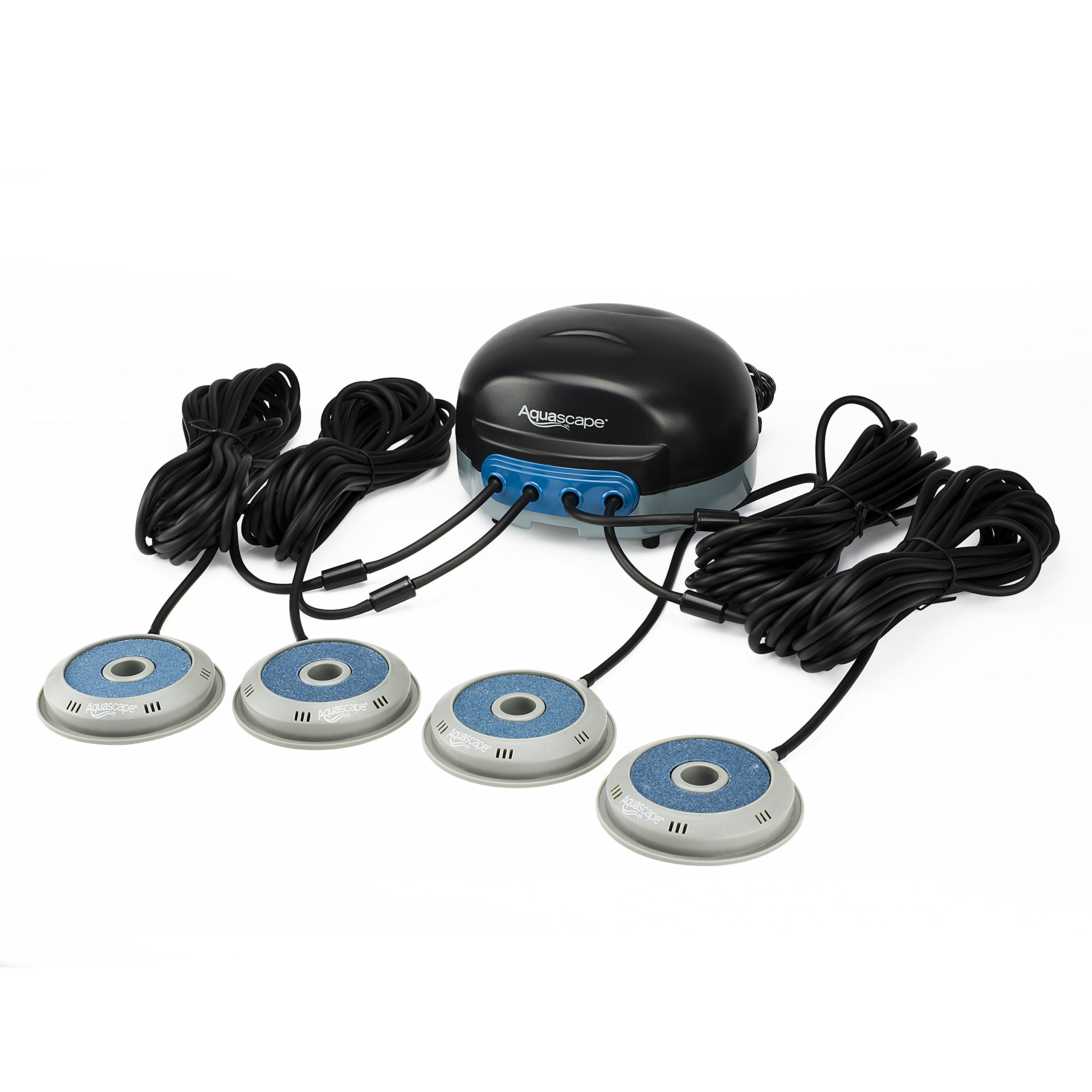 Aquascape Pond AIR 4 Aerator with 2 Additional Replacement AIRSTONES, Air Line, Power Cord and More - Adds Oxygen, Raises Water Quality and Clarity, Helps Fish and Plants - Quiet and Energy Efficient by Aquascape
