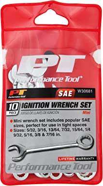 Performance Tool W30681 10Pc SAE Ignition Wrench Set 10Pc SAE Ignition Wrench Set