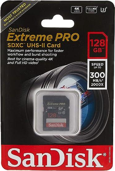 Sandisk 128 Gb Extreme Pro Uhs Ii Sdxc Speicherkarte Computer Zubehör