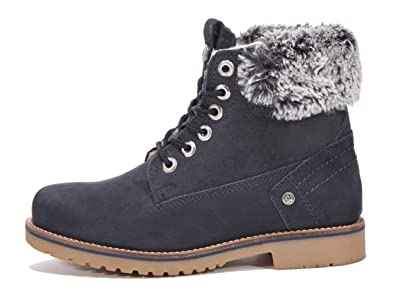 timeless design a8520 7bc2c Wrangler Damen Winter Stiefelette Leder Creek Alaska Fur S ...